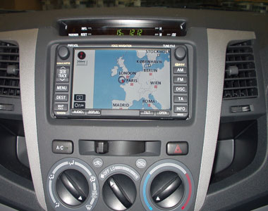 An installed SAT NAV system
